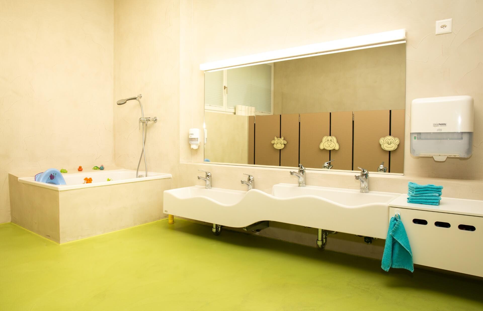Badezimmer der Kiwi Kindertagesstaette in Wiesendangen